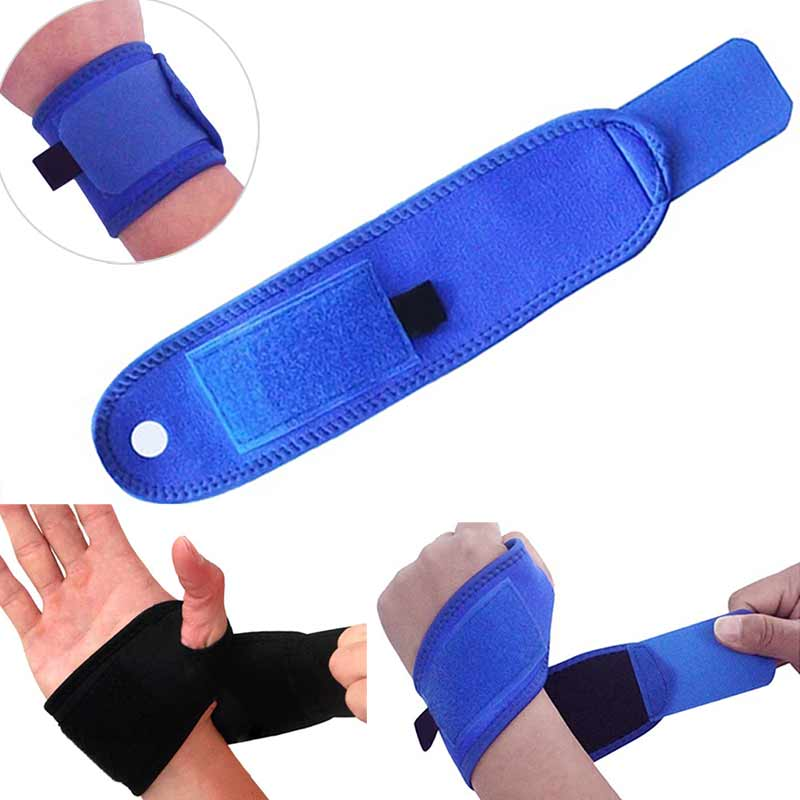 Polyester Wrist Guard Band Brace Support Gym Strap Magnetic Carpal Tunnel Sprains Strain Protection B2Cshop ...