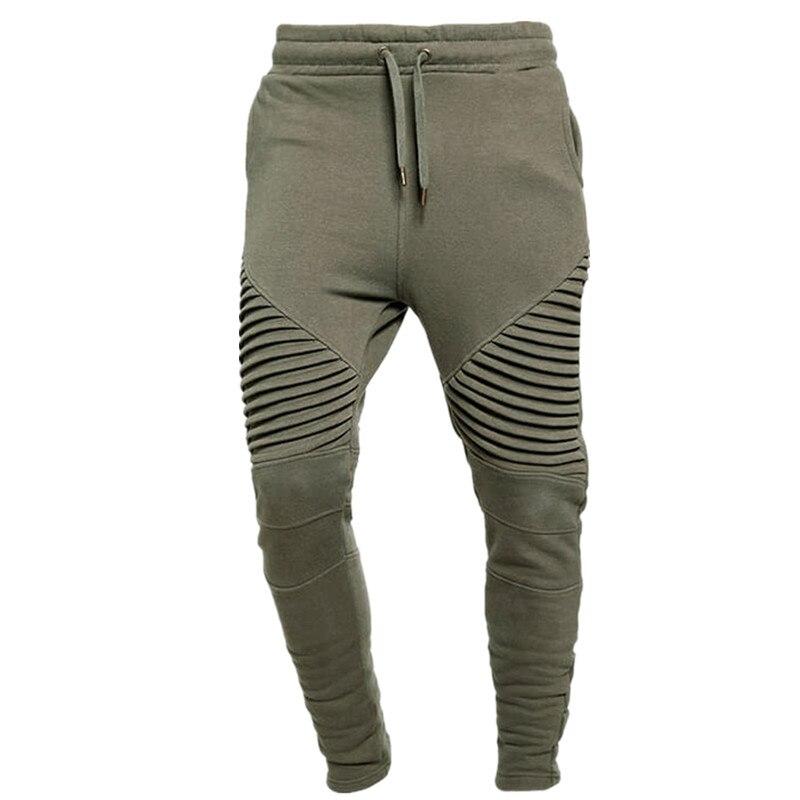 ESHINES Sports Pants Fold Joggers Running Men Pants Multi Pocket Harem Track Pants Male Trousers Mens Gym Sweatpants Plus size