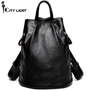 New Fashion Women Backpack Female PU Leather Women's Bucket Backpacks Bag Travel Bags Back Pack Multi-purpose Shoulder Bags
