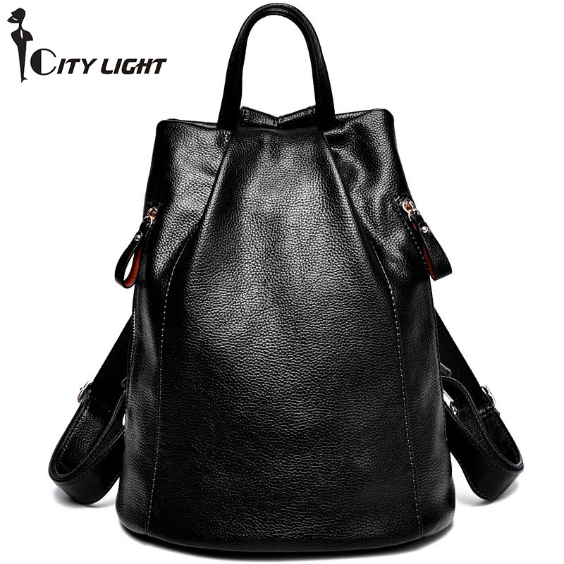 New Fashion Women Backpack Female PU Leather Women's Bucket Backpacks Bag Travel Bags Back Pack Multi-purpose Shoulder Bags цены