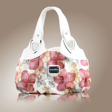 flower pattern Top-Handle Bags for Girls Hobos small Women Leather tote Bag Women Bag Female handbags black purses and handbags