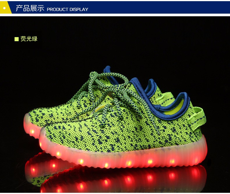 2016 NEW Children Luminous Sneakers USB Charging Kids LED Luminous Shoes Boys Girls of Colorful Flashing Lights Sneakers (5)