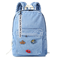 2017 new fashion Women backpack bag denim backpacks school bags for teenage girls canvas jeans bags laptop backpack female bag