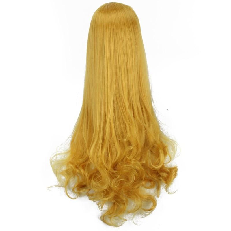 2870cm Sleeping Beauty Princess Aurora Wig Yellow Long Curly Golden