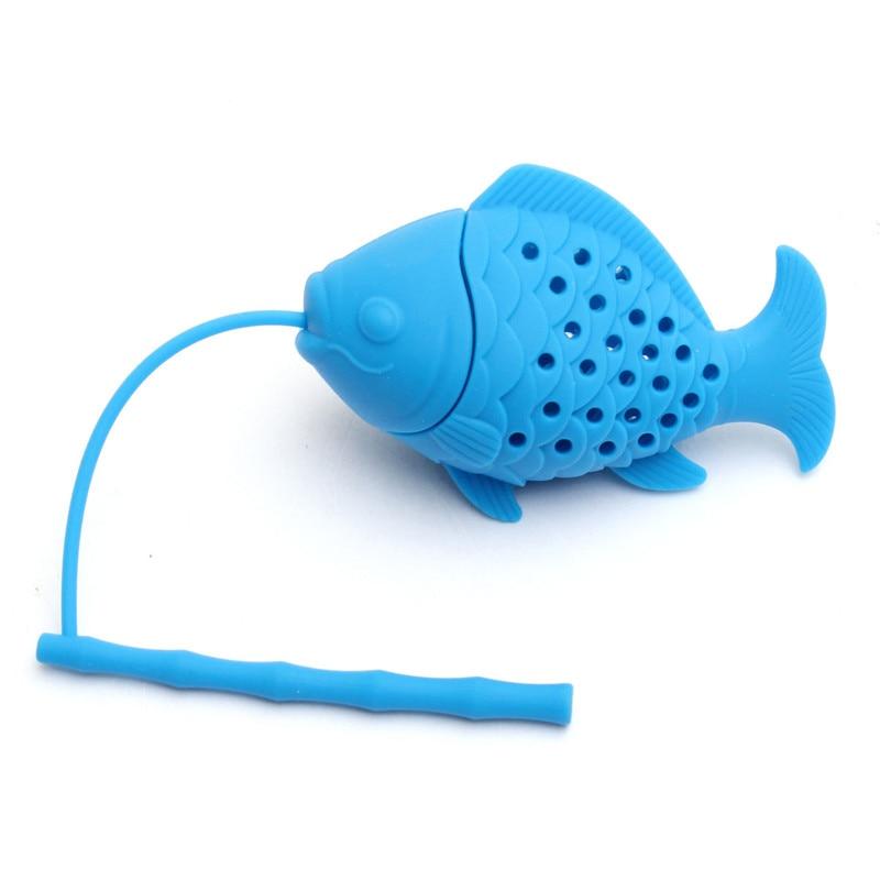 2017 cute fish design tea infuser silicone tea leaf spice for Fish tea bags