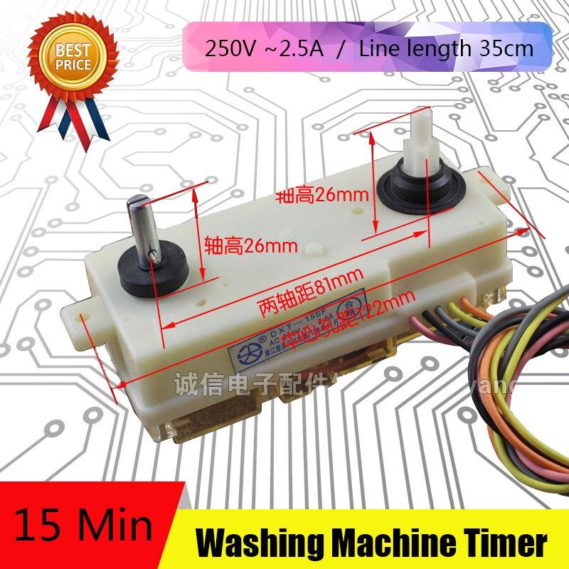 2Pcs 5 Line Washing Machine Parts New Timer Washing Machine Unused Spare Parts DSQXD-3602 washing machine parts heating tube 1600w 2000w 17 5 30cm
