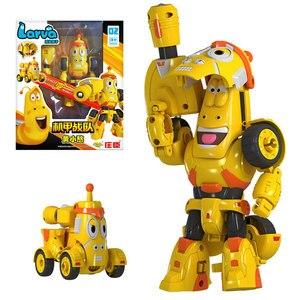 Image 1 - Yüksek kaliteli ABS eğlenceli Larva dönüşüm oyuncaklar aksiyon figürleri deformasyon araba modu ve Mecha mod doğum günü hediyesi