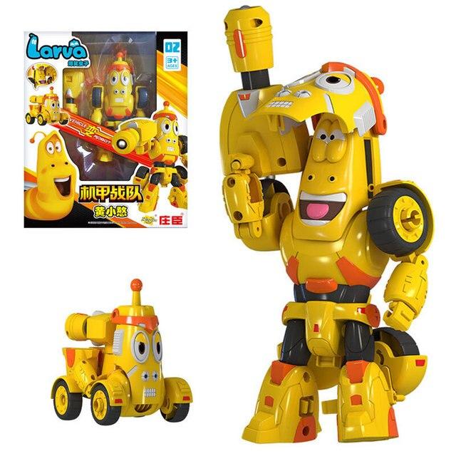 Yüksek kaliteli ABS eğlenceli Larva dönüşüm oyuncaklar aksiyon figürleri deformasyon araba modu ve Mecha mod doğum günü hediyesi