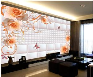 Good Buy Custom 3d Wallpaper Background Wall Rose Pattern Classic Wallpaper For Walls 3d Wallpaper For Room