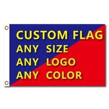 Флаги и баннеры графический пользовательский Печатный флаг с крышкой вала латунные втулки бесплатный дизайн наружной рекламы баннер украшения