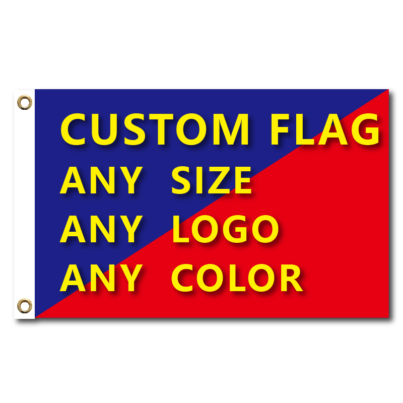 Flags And Banners Graphic Custom Printed Flag With Shaft Cover Brass Grommets Free Design Outdoor Advertising Banner Decoration(China)