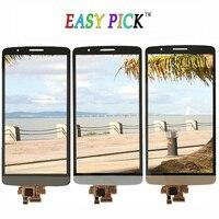 Zwart Wit Goud Voor LG G3 D850 D851 D855 VS985 LS990 Touchscreen Lcd-scherm Met Frame