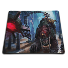 MaiYaCa Bear Cavalry Sejuani Mouse Mats Pc Laptop computer 18*22cm and 25*29cm and Lock  and No Lock  Mouse Pad