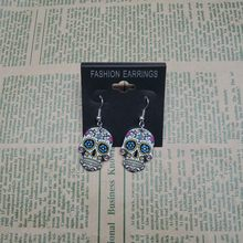 a4ab0e926 Calavera Sugary-sweet whimsical skull Earrings Celebrate Mexican Day of the  Dead Halloween Acrylic Sugar Skull Earring For Women