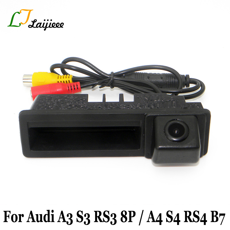 Car Parking camera For Audi A3 S3 RS3 8P 2003~2013 Auto Trunk Handle Backup Rearview Camera For Audi A4 S4 RS4 B6 B7 2001~2008