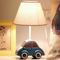 Car Mode Kids Led Desk Lamps E14 110V 220V Children Room Bedside Lamp Switch Button Laptop Table Light Study Reading Led Lamp