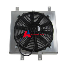 NEW Alloy SHROUD FAN Auto 12″ Fan Shroud Full Aluminum Radiator for HONDA CIVIC/DEL SOL/INTEGRA DC