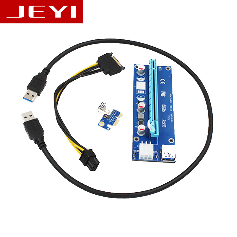 JEYI <font><b>x1</b></font> x16 Riser PCI-E <font><b>pcie</b></font> PCI-Express PCIExpress 1x To 16x Extension Flex Cable Extender Converter Card Adapter 5A high Power image