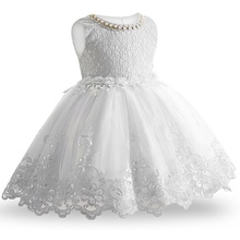 Beautiful Flower Lace Girls Ball Gown
