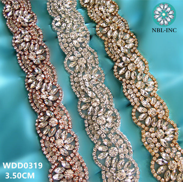 Online Shop (10 yards)Wholesale bridal beaded sewing rose gold ...