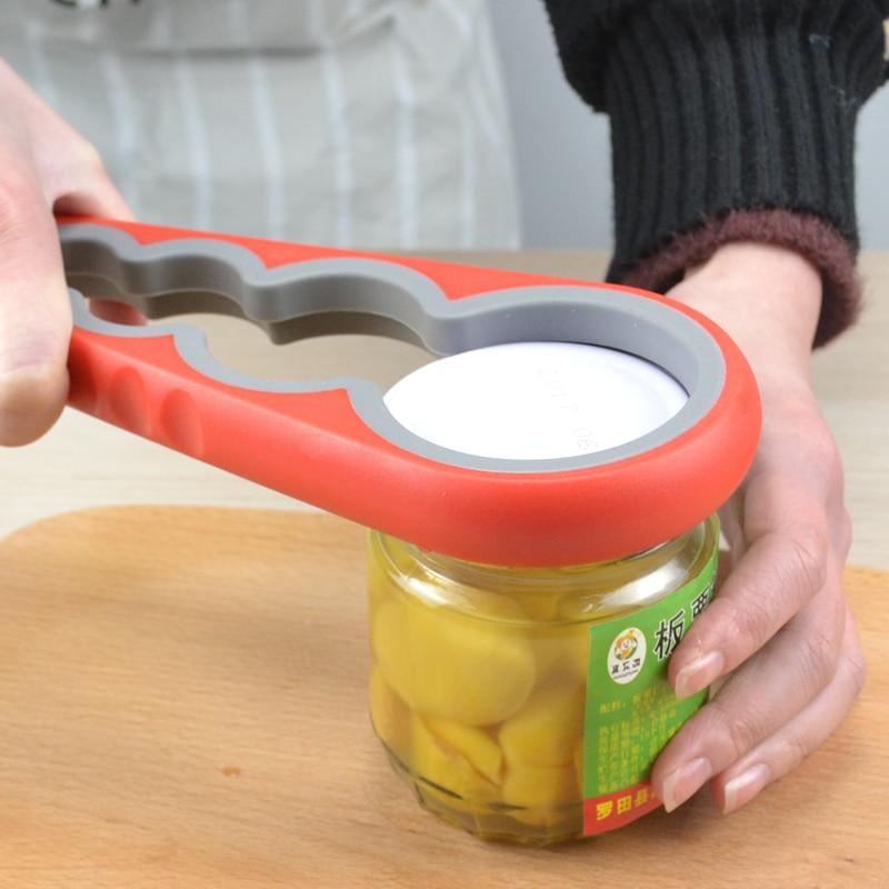 4 in 1 Multifunction Easy Twist Jar Opener Anti-skidding Household Can Opener