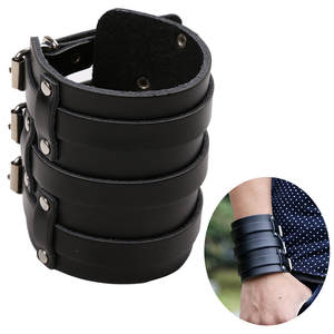 Msemis Arm Warmers Belt Bracelet Arm-Armor Three-Buckle Wristband Bangle-Cuff Protective