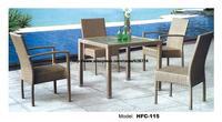 Открытый прямоугольник Стекло ротанга Таблица 4 стулья сад набор amrest и nonarmrest стулья для отдыха Мебель балкон gardern комплект