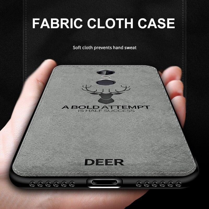 Fabric Case for Xiaomi Redmi Note 4X Classic Cloth Matte Soft Hard Cover Xiomi Xiaomi Redmi Note 4 Global Version Phone Cases