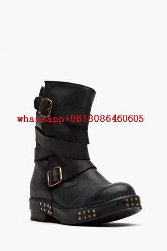 vente chaude en ligne 443ec 29fd8 Choudory Chaussure femme winter ankle cowboy boots real leather stockings  motorcycle combat biker boots shoes woman