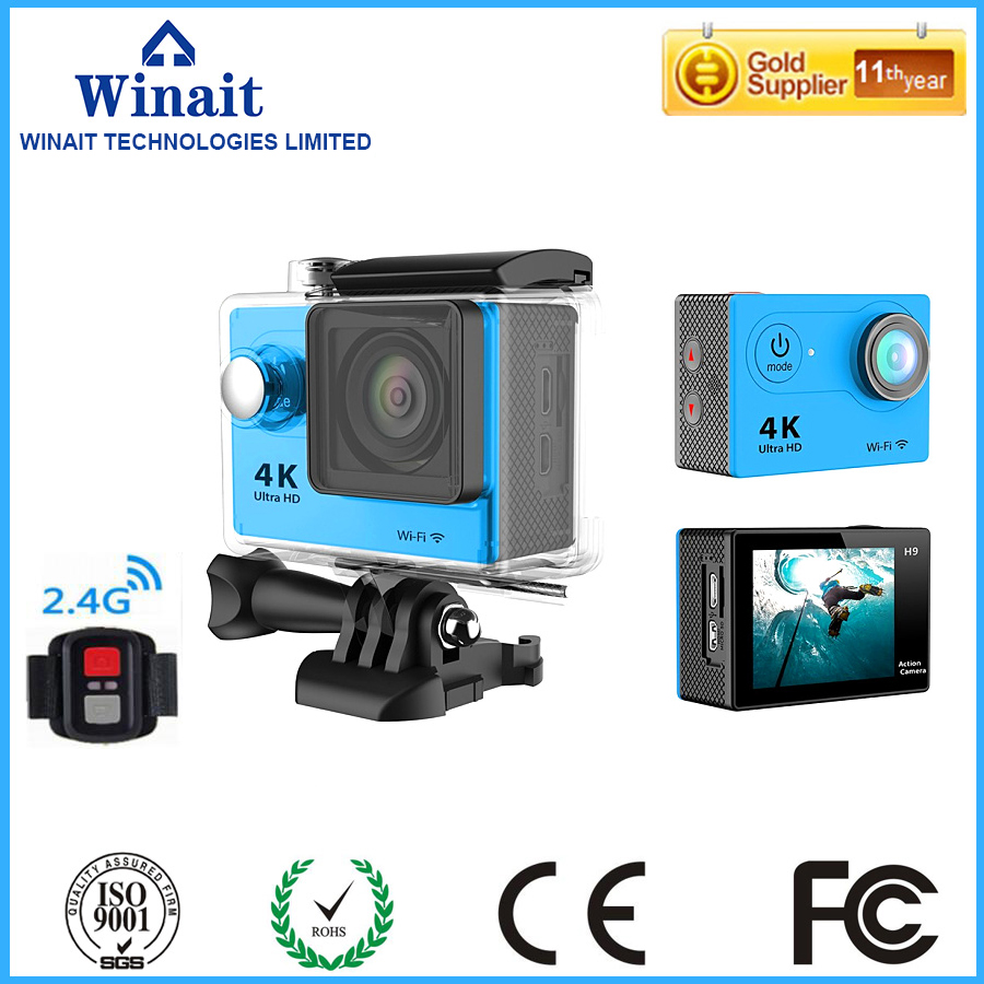 ФОТО Winait H9R  2.0LTPS 2.4G wireless remote control Action Camera 1080p Full HD Water Resistant 30m 4k With WiFi