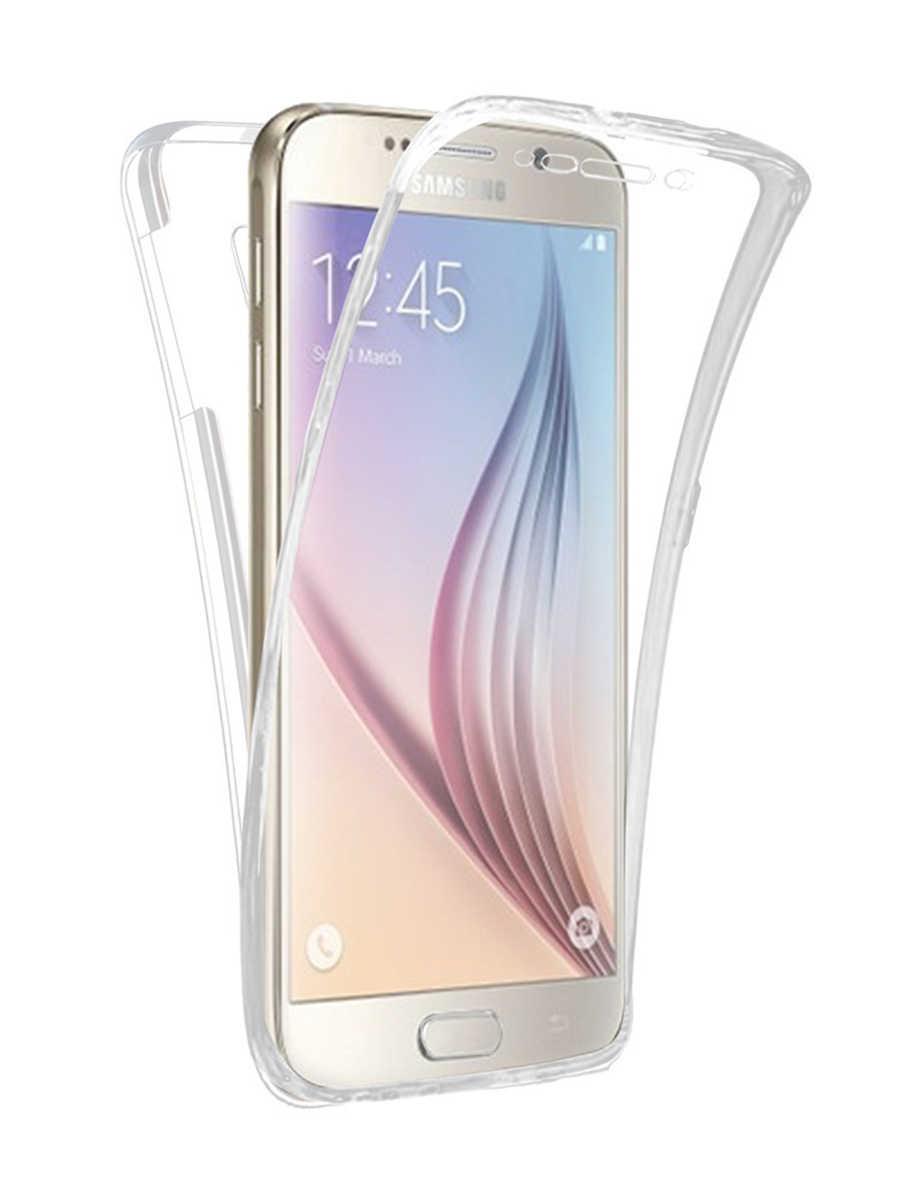 Clear Soft PHONE UNTUK Samsung Galaxy A6 A8 Plus 2018 A3 A5 A7 J1 J3 J5 J7 2015 2016 2017 NEO Perdana Silikon Penutup Penuh