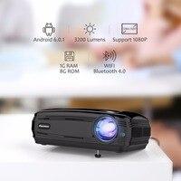 Excelvan BL59 Android 6,0 светодиодный проектор 3500 люмен Бимер встроенный WI FI BT 4 K видео проектор высокого разрешения 1080 P светодиодный ТВ ЕС Plug