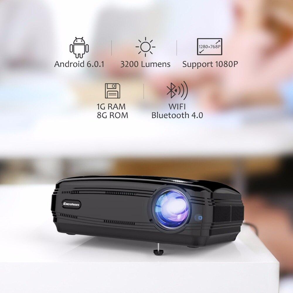 Excelvan BL59 Android 6.0 projecteur LED 3500 Lumen projecteur intégré WIFI BT 4 K projecteur vidéo Full HD 1080 P LED TV prise EU