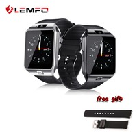LEMFO SmartWatch DZ09 Smart Watch Support Bluetooth SIM TF Card Passometer With Battery Wristwatches For Andriod