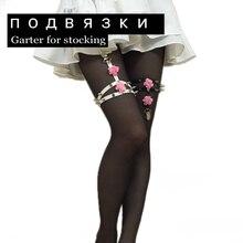 Harajuku Spike straps garter fashion rivet CROSS Double Lines punk Flowers garters for women gifts LEG HARNESS