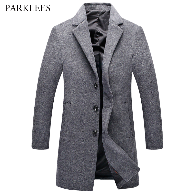 Gray Mens Pea Coat Promotion-Shop for Promotional Gray Mens Pea ...