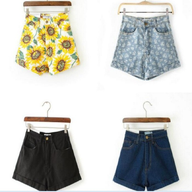 New Fashion women's jeans Summer High Waist Stretch Denim Shorts Slim American Apparel Casual women Shorts Jeans Hot Plus Size
