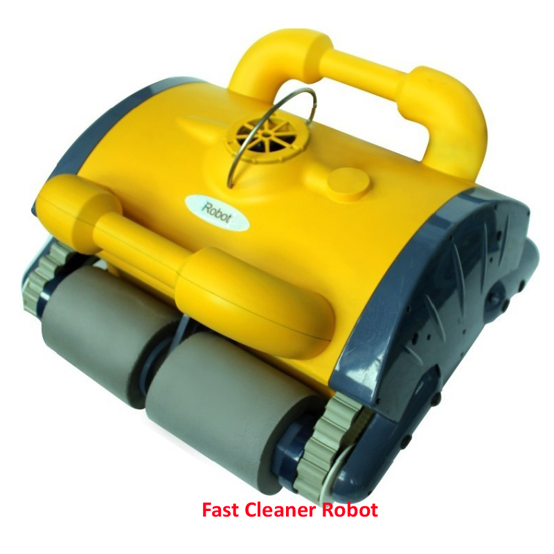 Wall Climbing and Remote Control Robot Automatic Swimming Pool Vacuum Cleaner With Caddy Cart