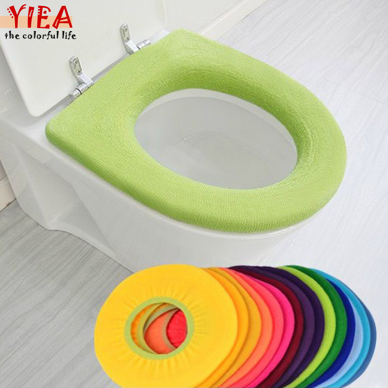 Warmer Toilet Seat Case For Bathroom Products Pedestal Pan Cushion Pads Lycra Use In O-shaped Flush Comfortable Toilet Random