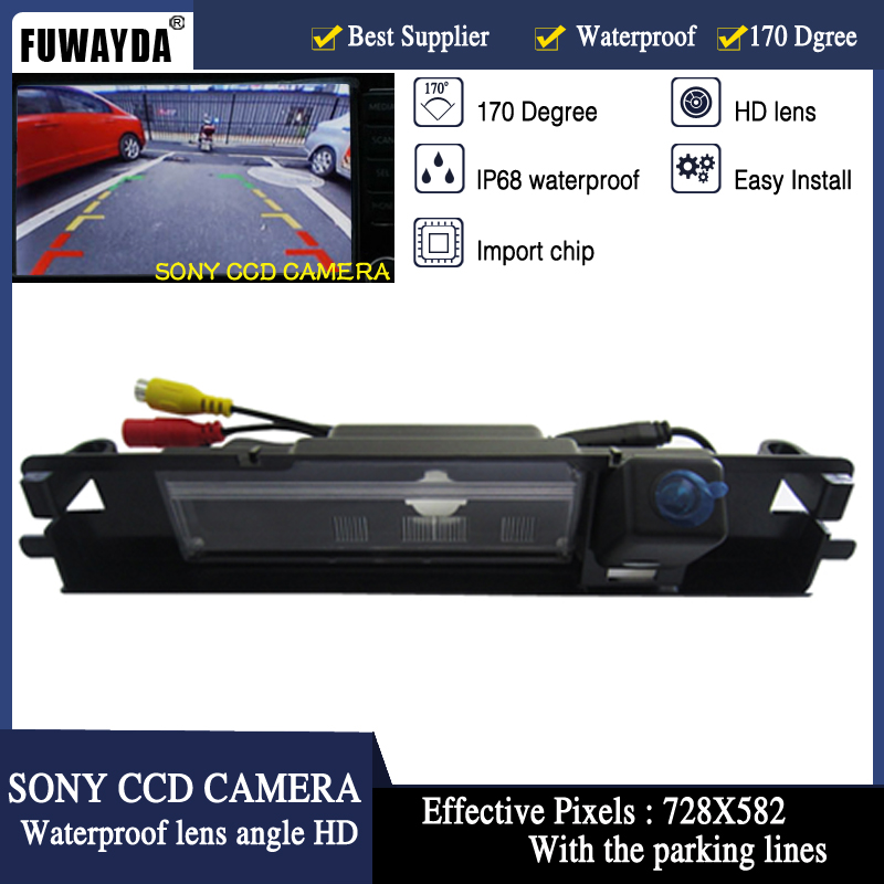FUWAYDA SONY CCD wire Reverse HD Car rear view camera Backup Camera with parking lines for Toyota Yaris 2006-2012 years