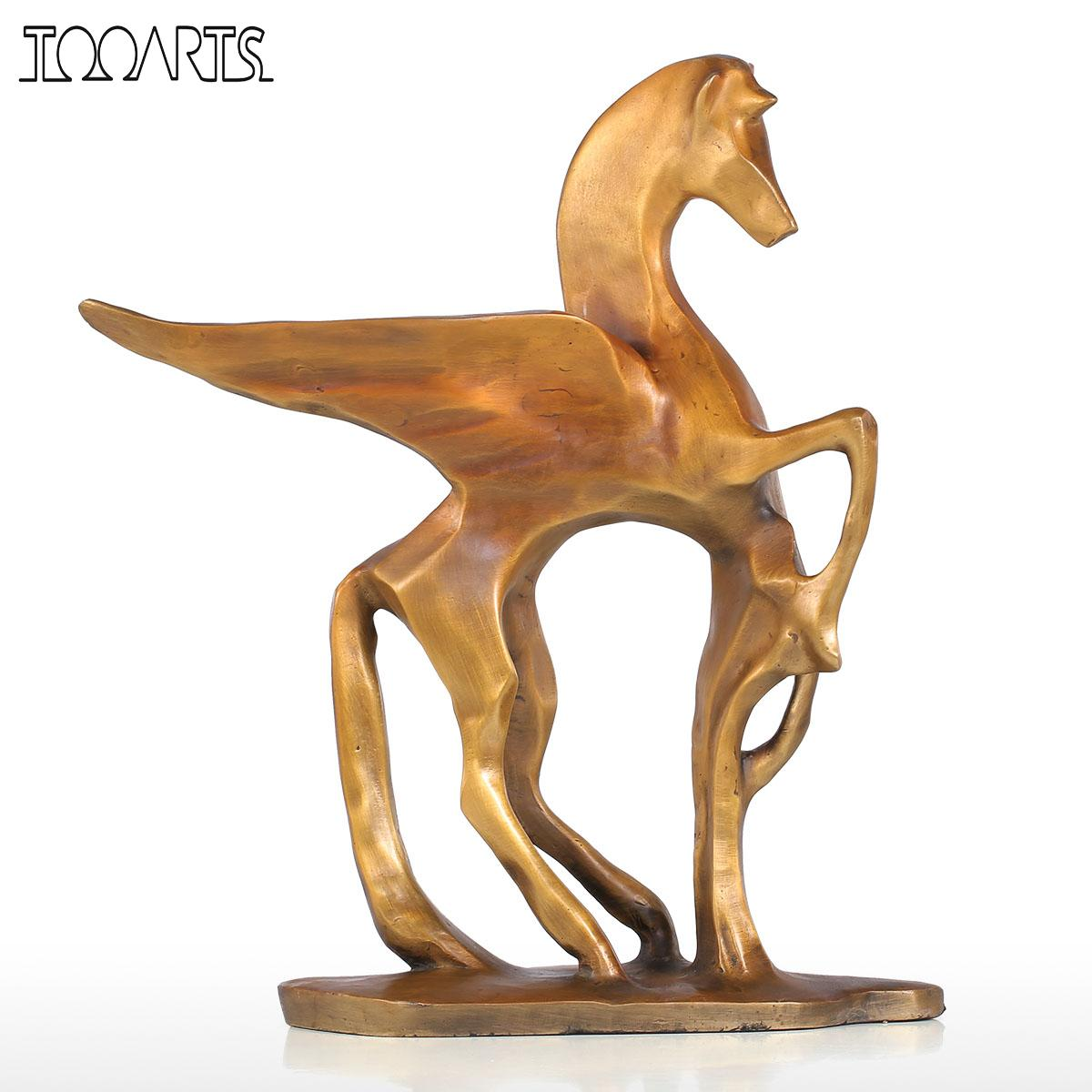 Tomfeel Flying Horse Sculpture Modern Style Home Art Decor Animal Bronze Statue