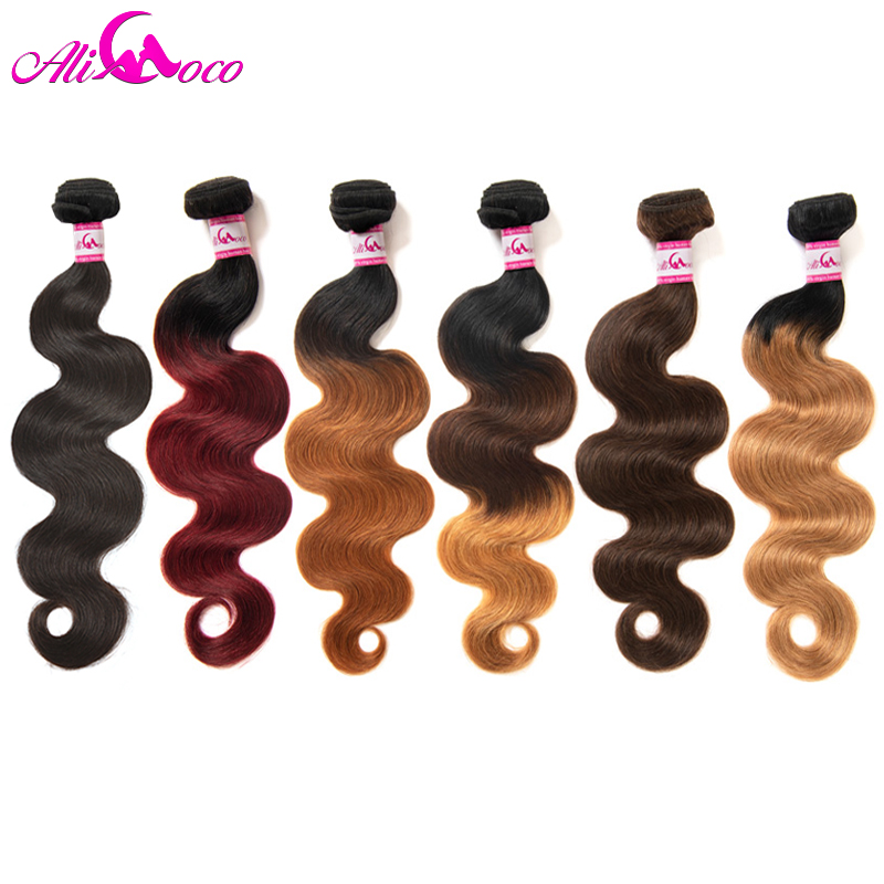 Ali Coco Brazilian Body Wave Hair Extensions 8-30 inch 100% Human Hair Weave Bundles 1/3/4 PCS Natural Color Non Remy Hair