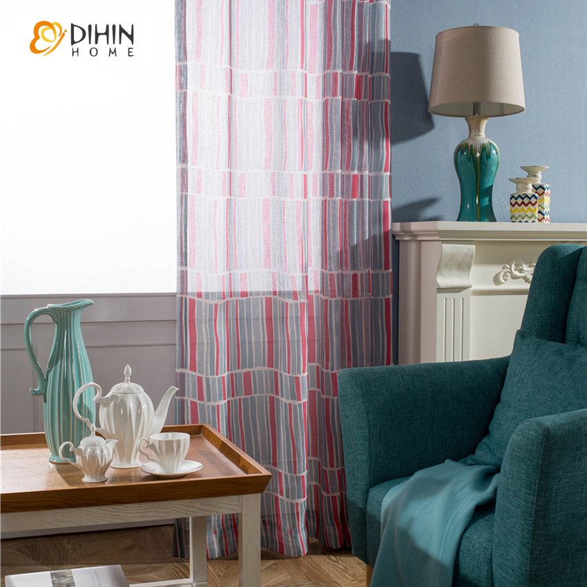 living room valances sale dihin 1pc striped sheer curtains for living room 13560