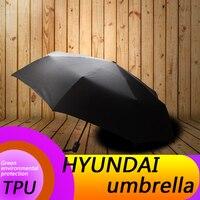 Automatic Folding Umbrella Rain Sunshade Logo Umbrella Quality Windproof For Hyundai Solaris Tucson Creta Accent Getz I30 I25