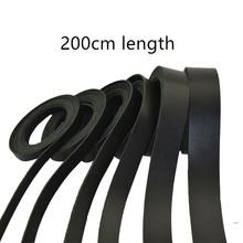 DIY handmade first layer black leather rope strip pure 200cm long