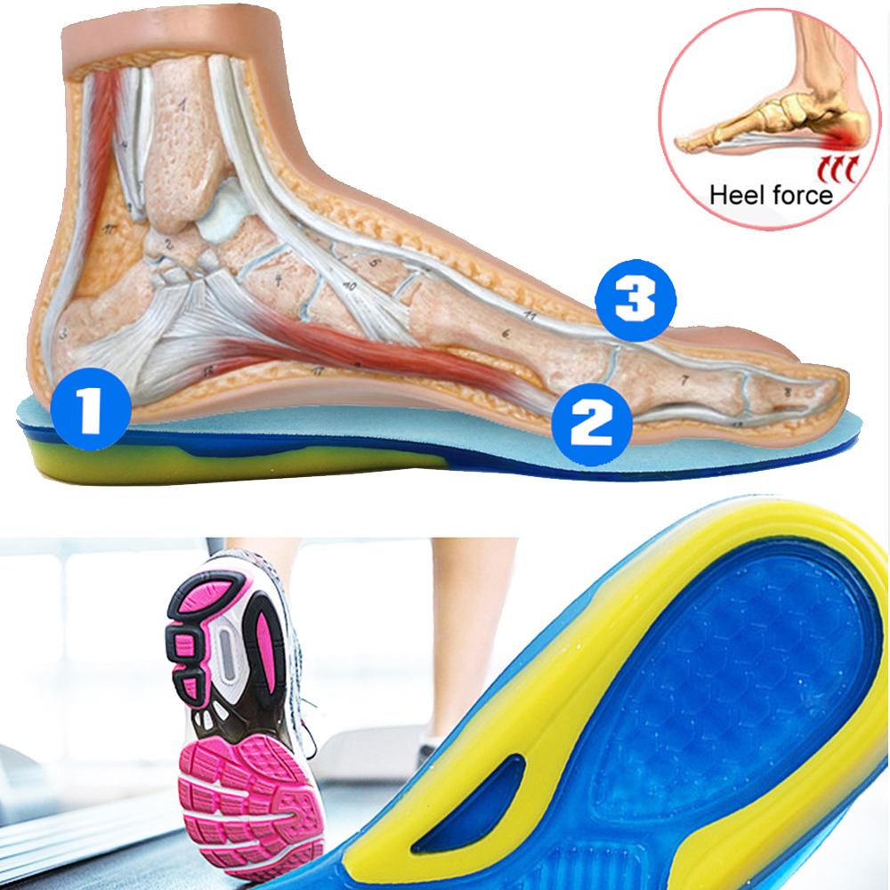Soft Elastic Heel Protector Shoe Insoles