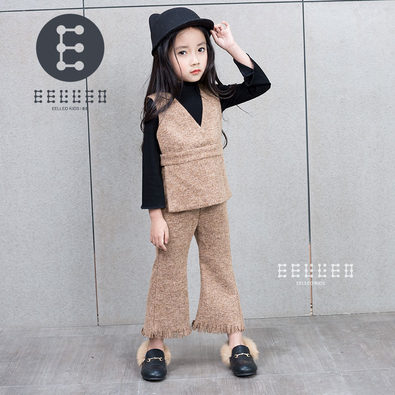 New 2017 Spring Autumn Children Girls Clothing Sets Clothes Vest +T shirt + Pants Baby Kids 3pcs Suit