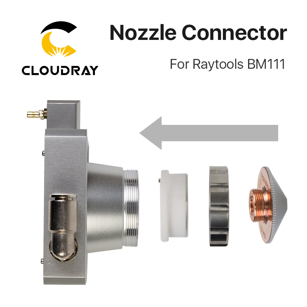 Tools : Cloudray Nozzle Connector of Raytools Laser Head BM111 For Fiber Laser 1064nm Cutting Machine