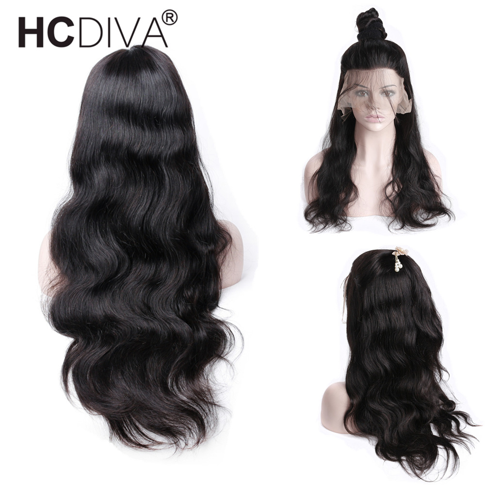 Body Wave Full Lace Wigs Bleached Knots 130 Density Peruvian Remy Pre Plucked Full Lace Human Hair Wigs With Baby Hair Glueless ...
