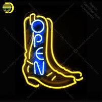 Sinal de néon para Lâmpada de Néon sinal aberto com sapato artesanato presente do amor luz do tubo de vidro Decorar lâmpadas de parede anunciar exibição loja